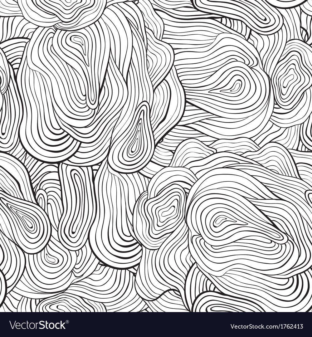 Seamless curve pattern black and white background vector | Price: 1 Credit (USD $1)