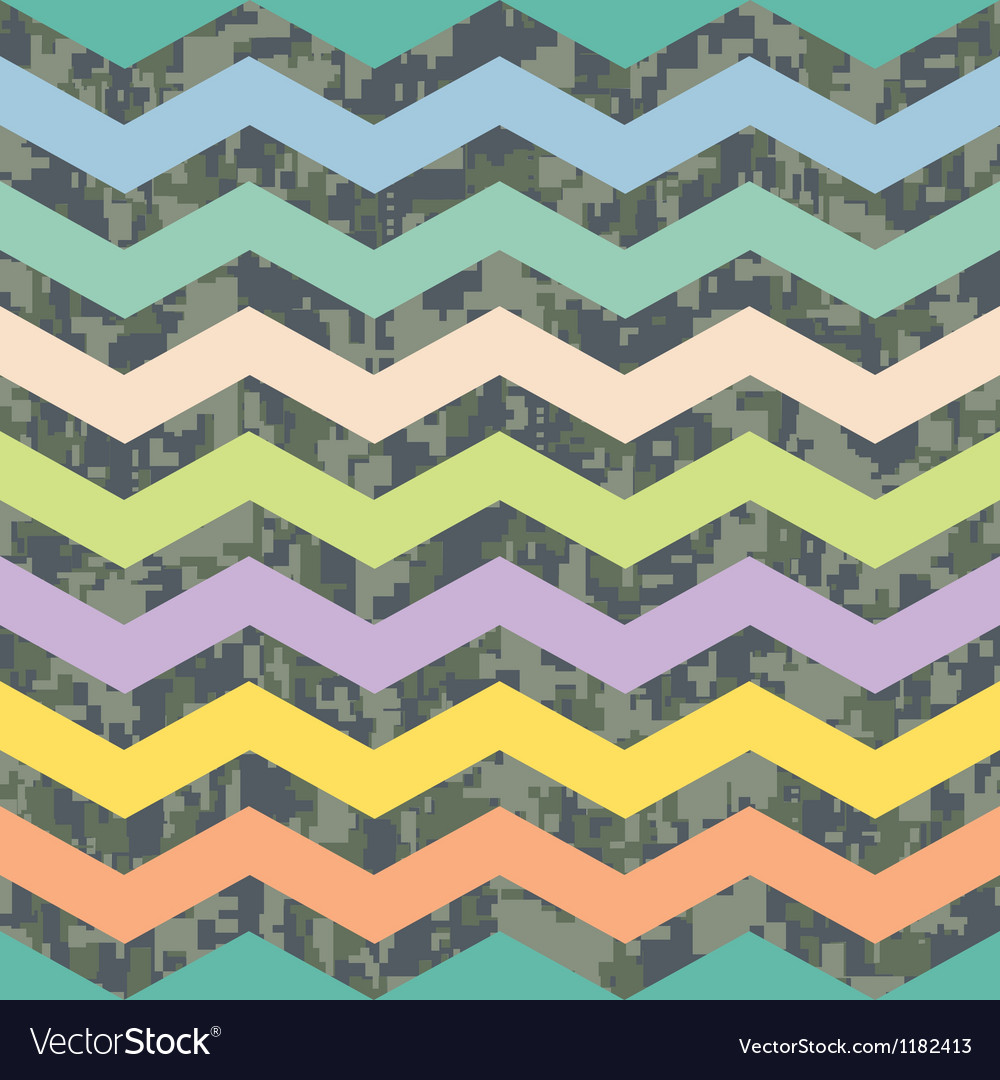 Summer chevron on fall camo background pattern vector | Price: 1 Credit (USD $1)