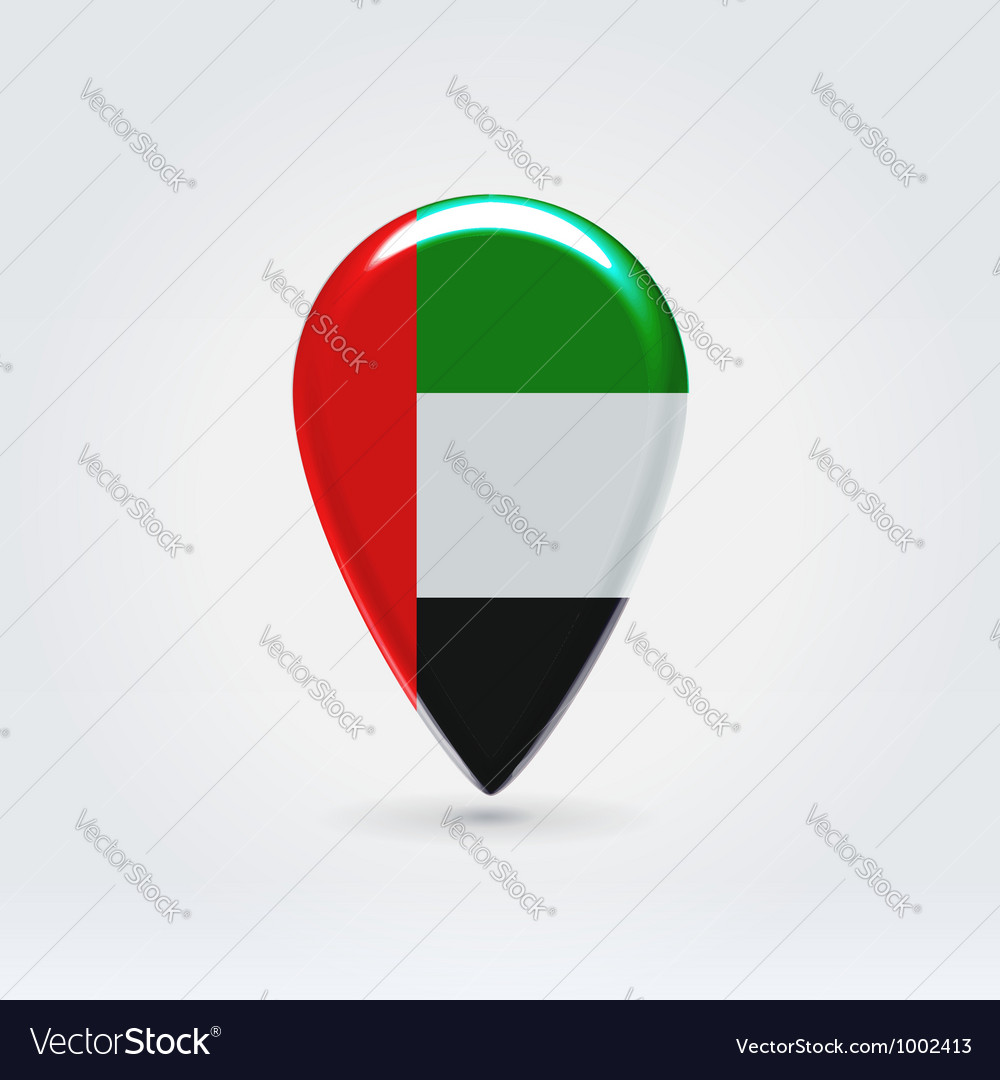 United emirates icon point for map vector | Price:  Credit (USD $)