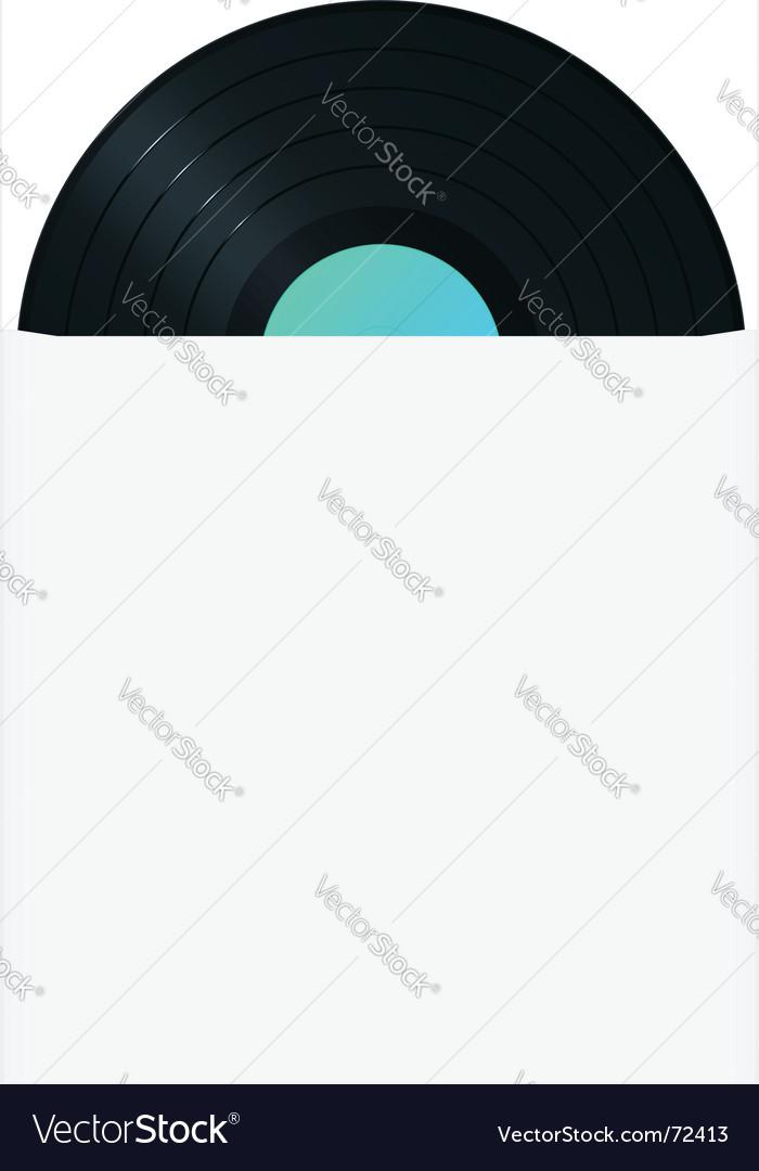 Vinyl record in sleeve vector