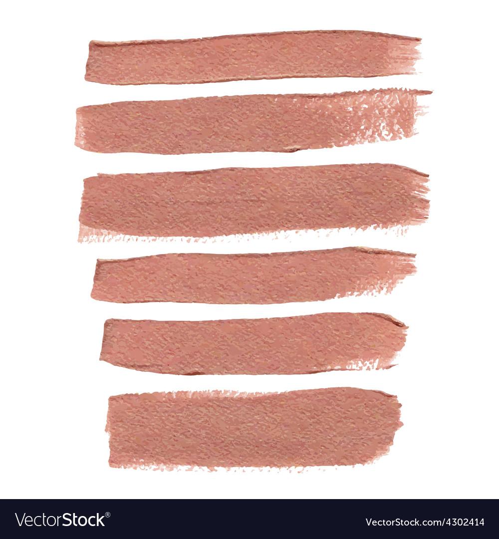 Bronze ink brush strokes vector | Price: 1 Credit (USD $1)