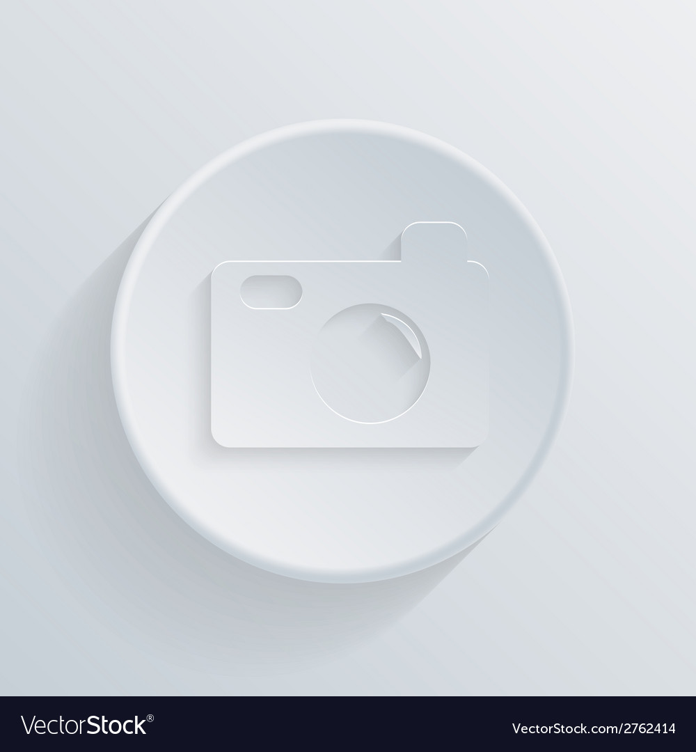 Circle icon with a shadow photo camera vector | Price: 1 Credit (USD $1)