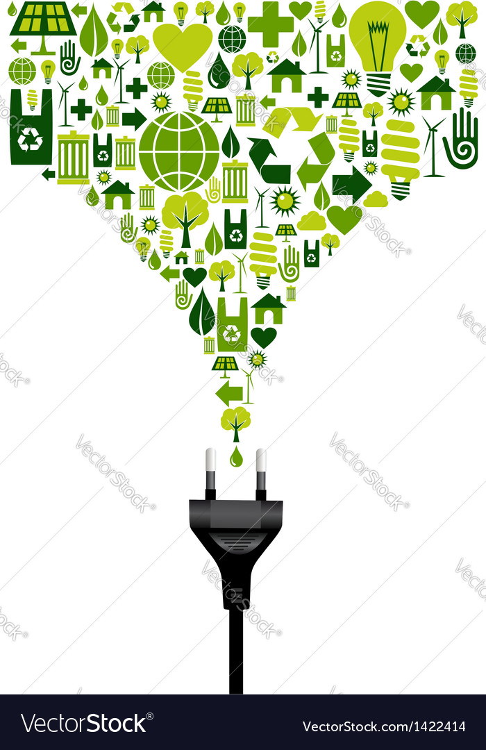 Environmental electric plug vector | Price: 1 Credit (USD $1)