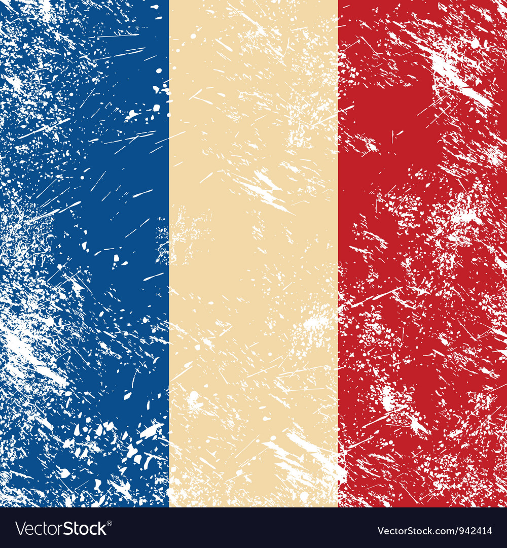 France retro flag vector