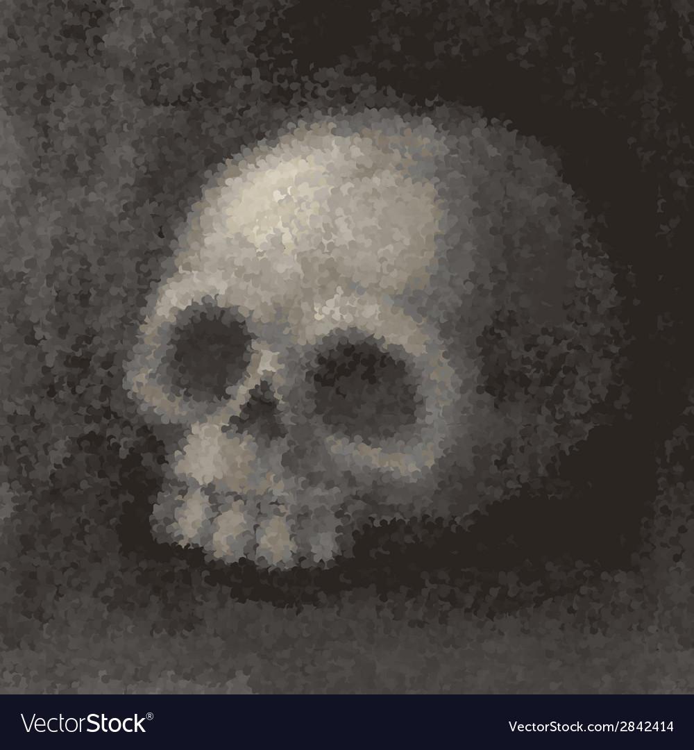 Grunge skull vector | Price: 1 Credit (USD $1)