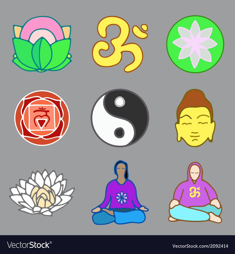 Icons of yoga vector | Price: 1 Credit (USD $1)