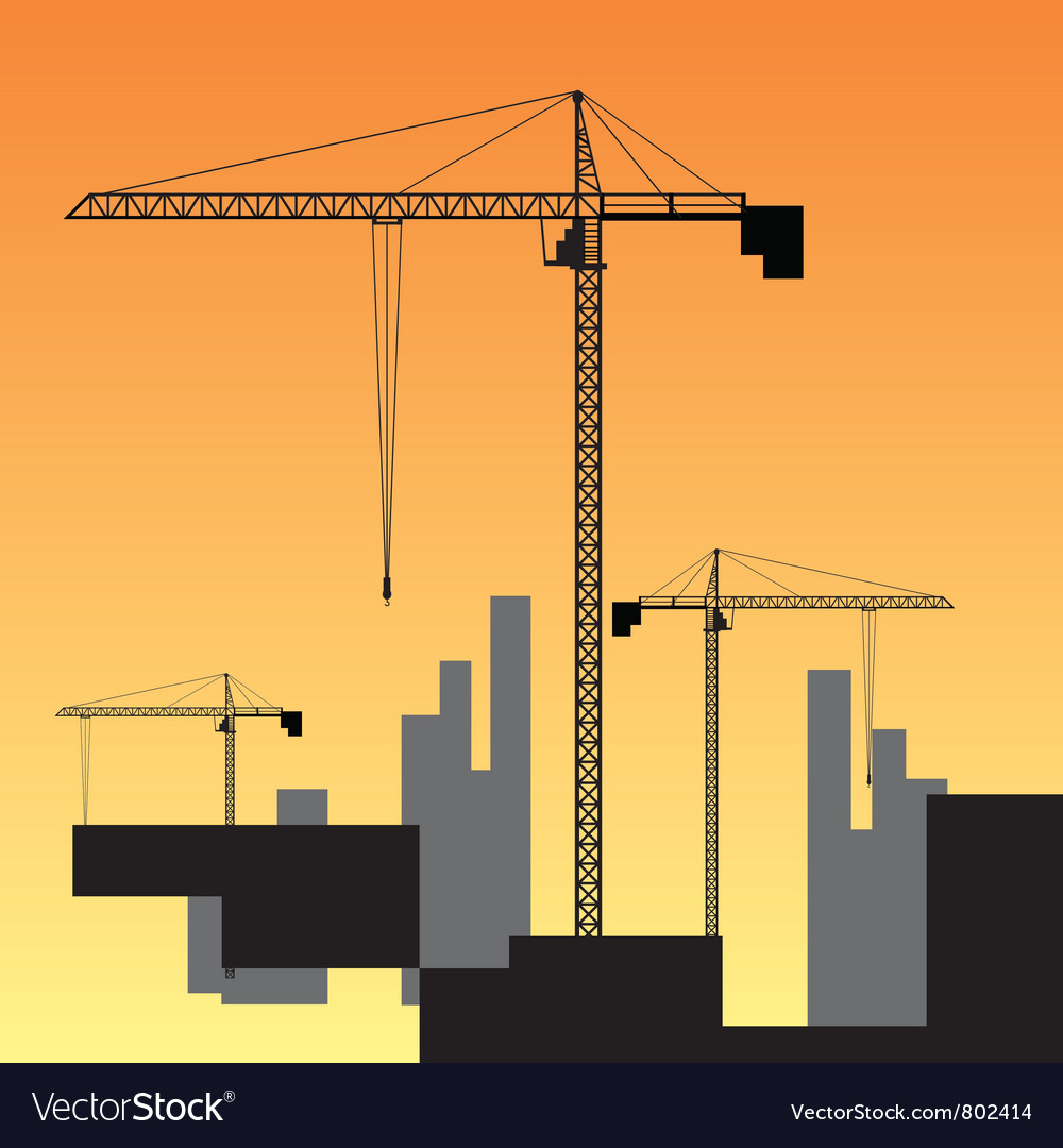 Large construction site vector | Price: 1 Credit (USD $1)