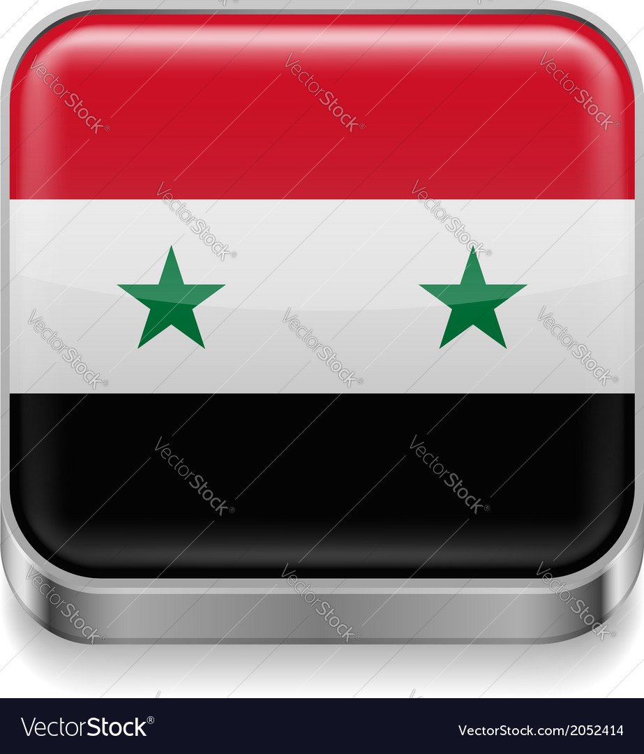 Metal icon of syria vector | Price: 1 Credit (USD $1)