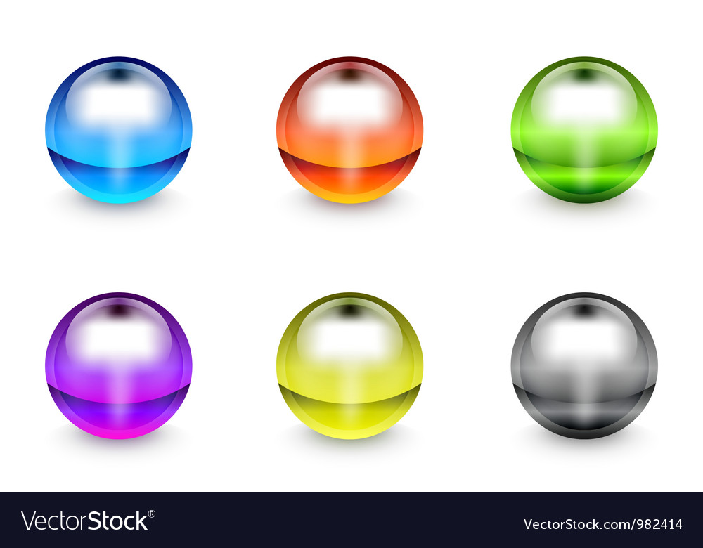 Plastic gel round buttons vector | Price: 1 Credit (USD $1)