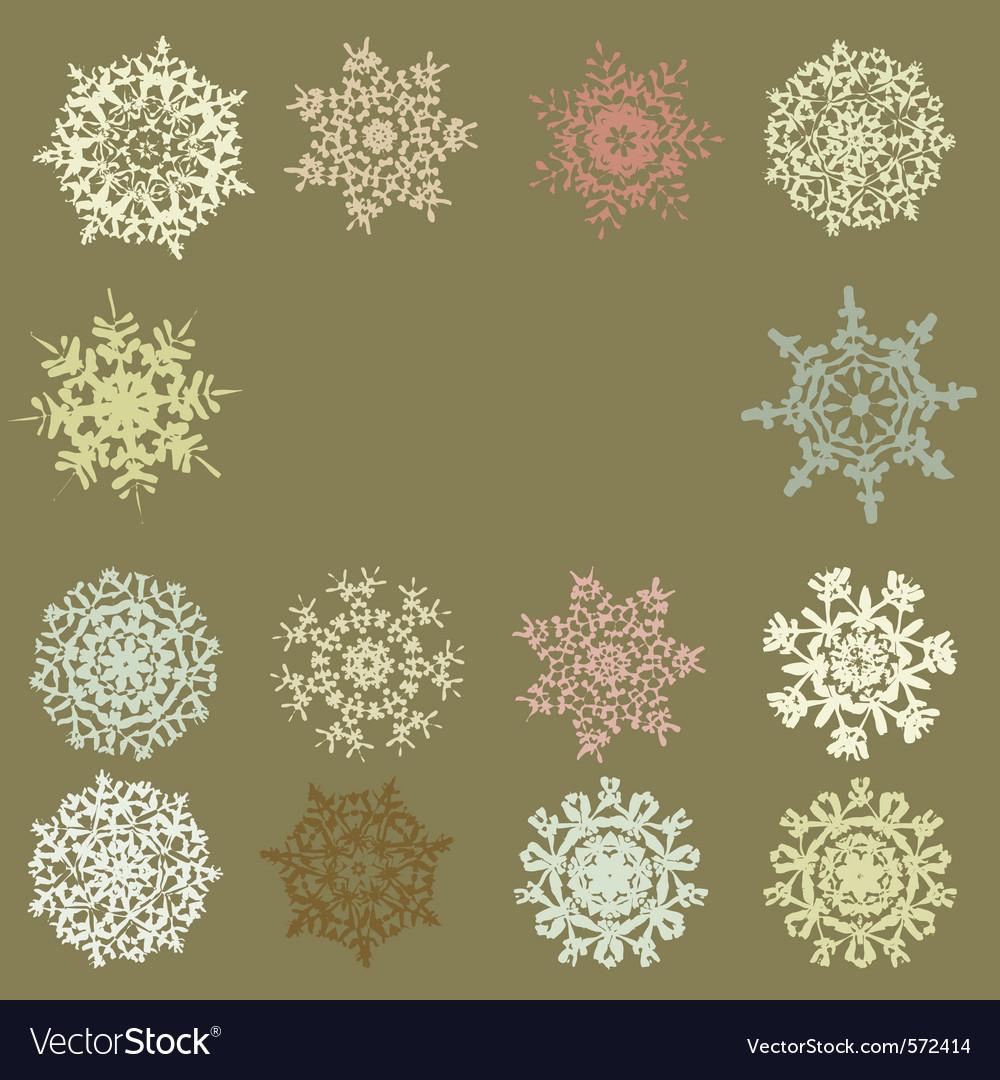 Retro snowflakes vector | Price: 1 Credit (USD $1)