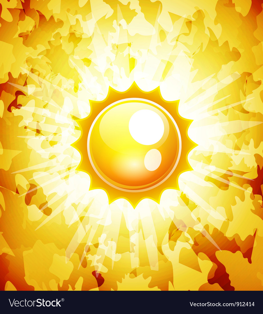 Sunshine abstract background vector | Price: 1 Credit (USD $1)