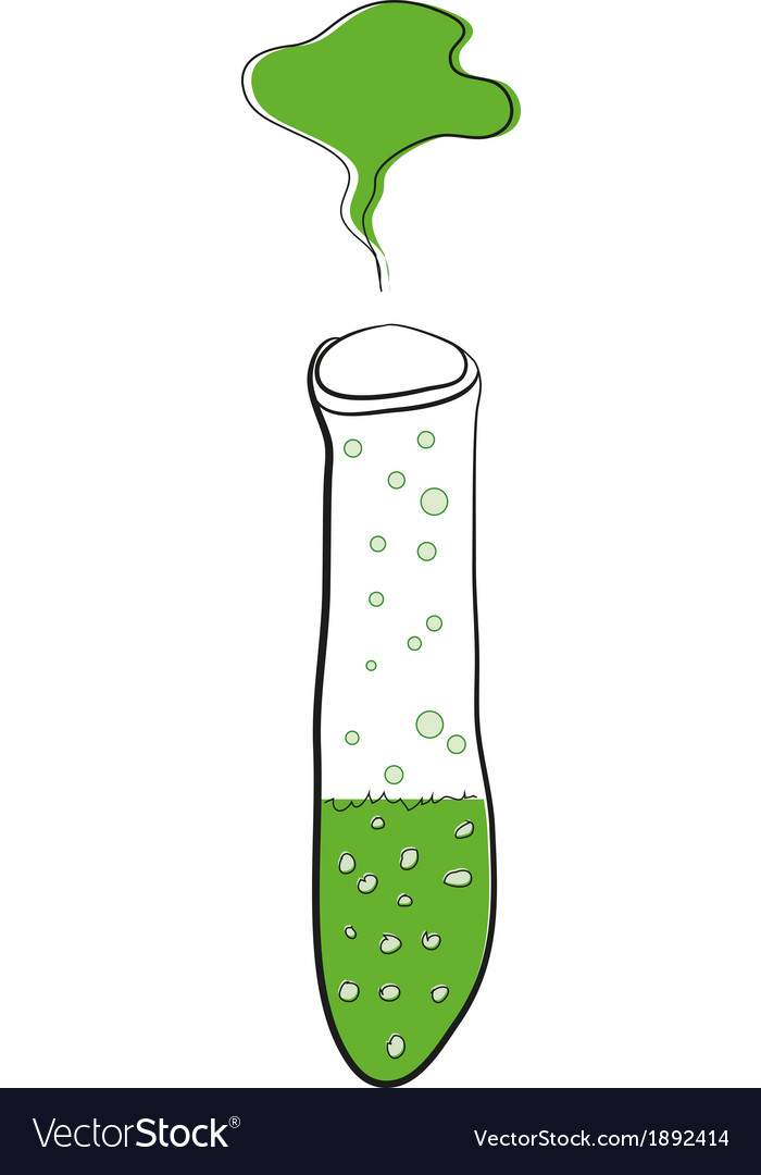 Test tube with green liquid vector | Price: 1 Credit (USD $1)