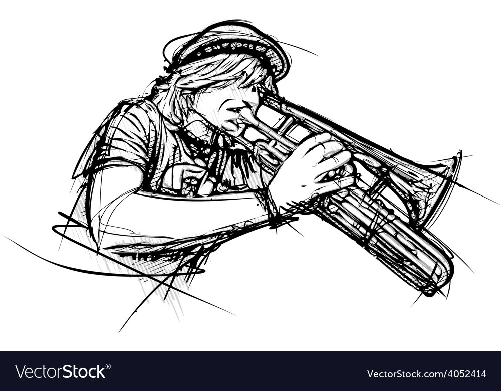 Trumpetist vector | Price: 1 Credit (USD $1)