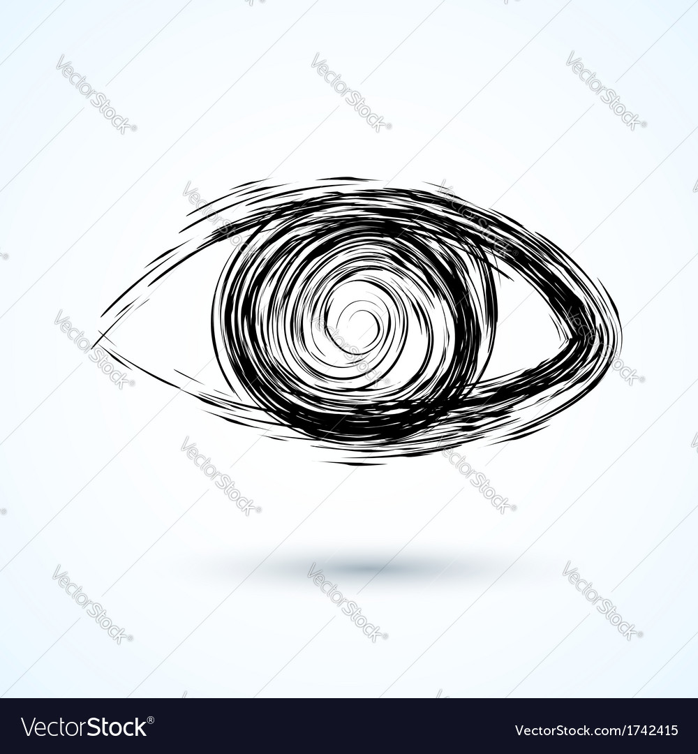 Abstract eye sketch vector | Price: 1 Credit (USD $1)