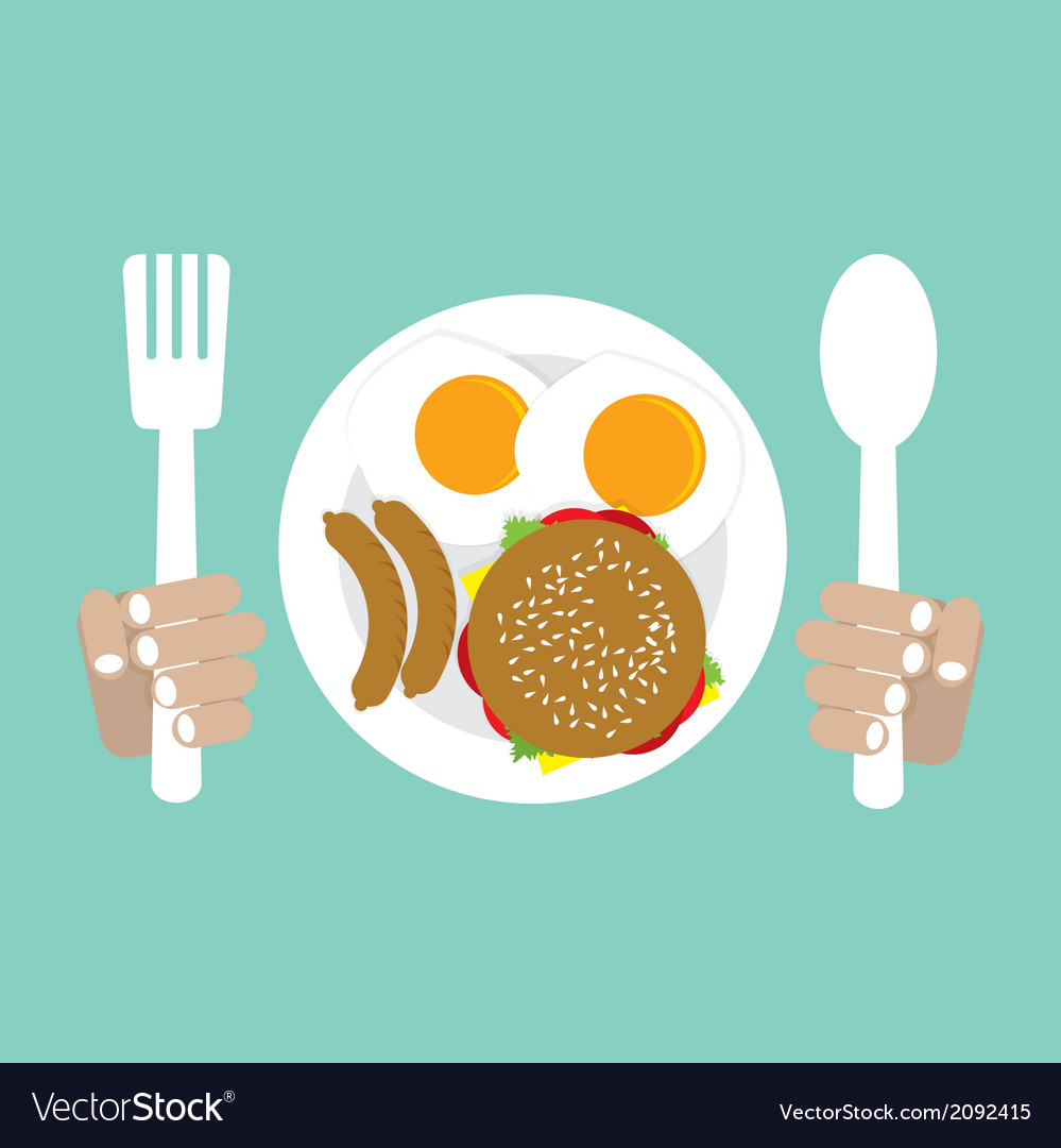 American breakfast vector | Price: 1 Credit (USD $1)