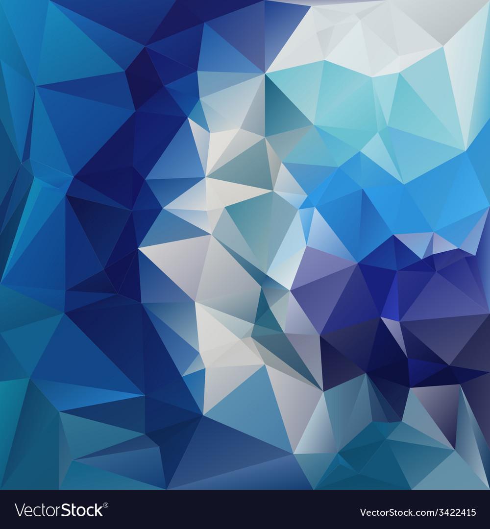 Blue diamond polygonal triangular pattern vector | Price: 1 Credit (USD $1)