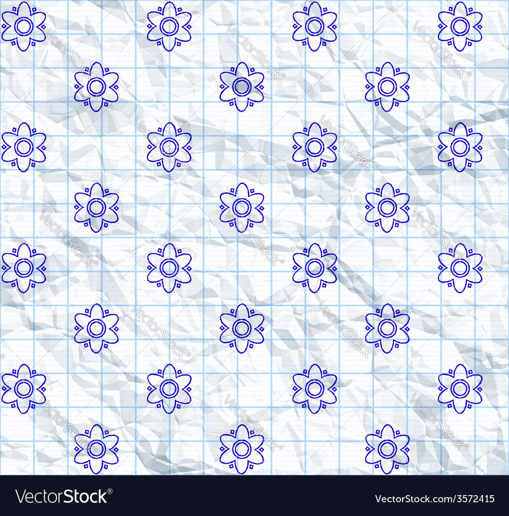 Drawn flower pattern vector | Price: 1 Credit (USD $1)