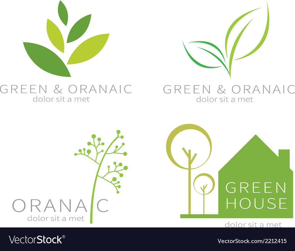 Eco green leaf ecology green icon vector | Price: 1 Credit (USD $1)