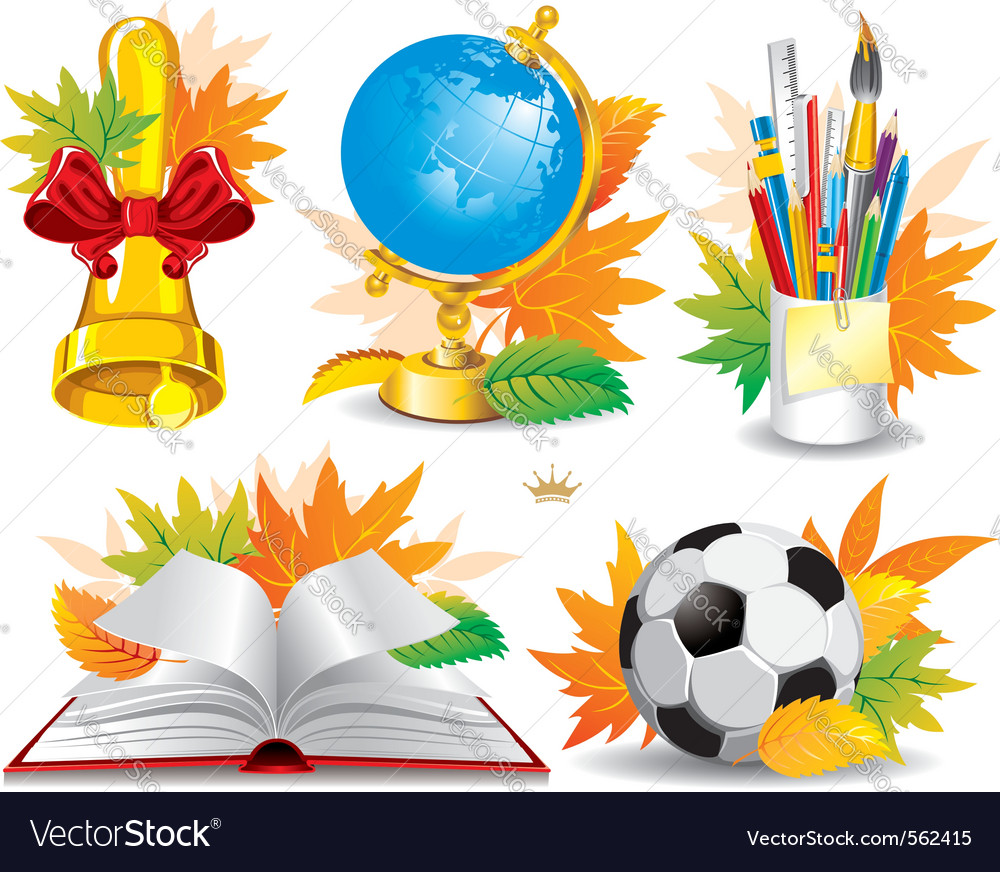 Education and school icon set vector | Price: 5 Credit (USD $5)