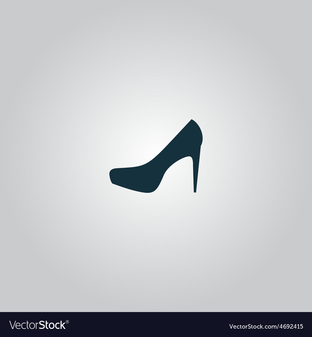 Female shoes web icon design vector | Price: 1 Credit (USD $1)