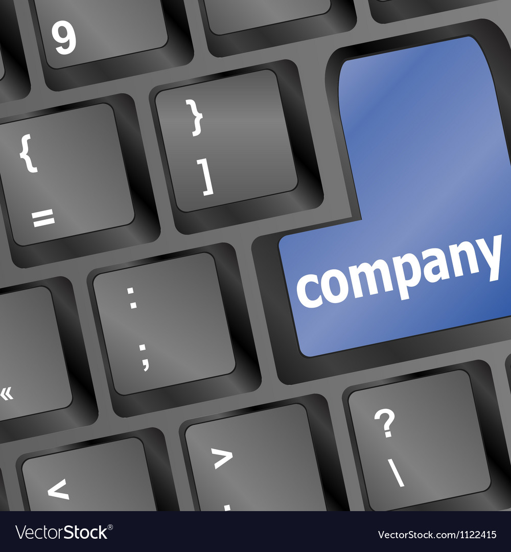 Keyboard buttons company key - business concept vector | Price: 1 Credit (USD $1)