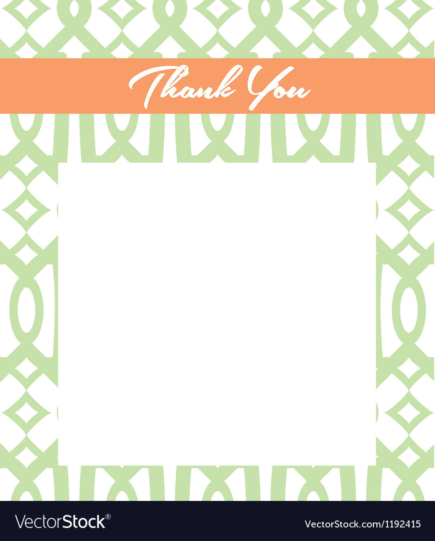 Mint and peach thank you card vector   Price: 1 Credit (USD $1)