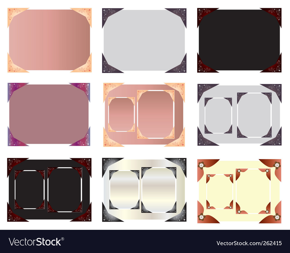 Set of photo blanks vector | Price: 1 Credit (USD $1)