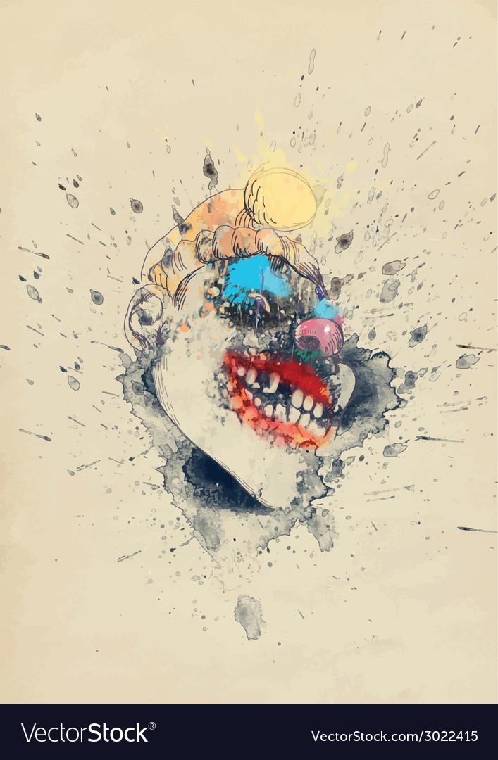 Spooky clown vector | Price: 1 Credit (USD $1)