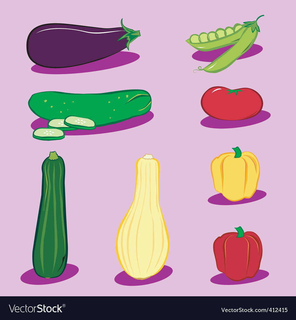 Vegetable icons 3 vector | Price: 1 Credit (USD $1)