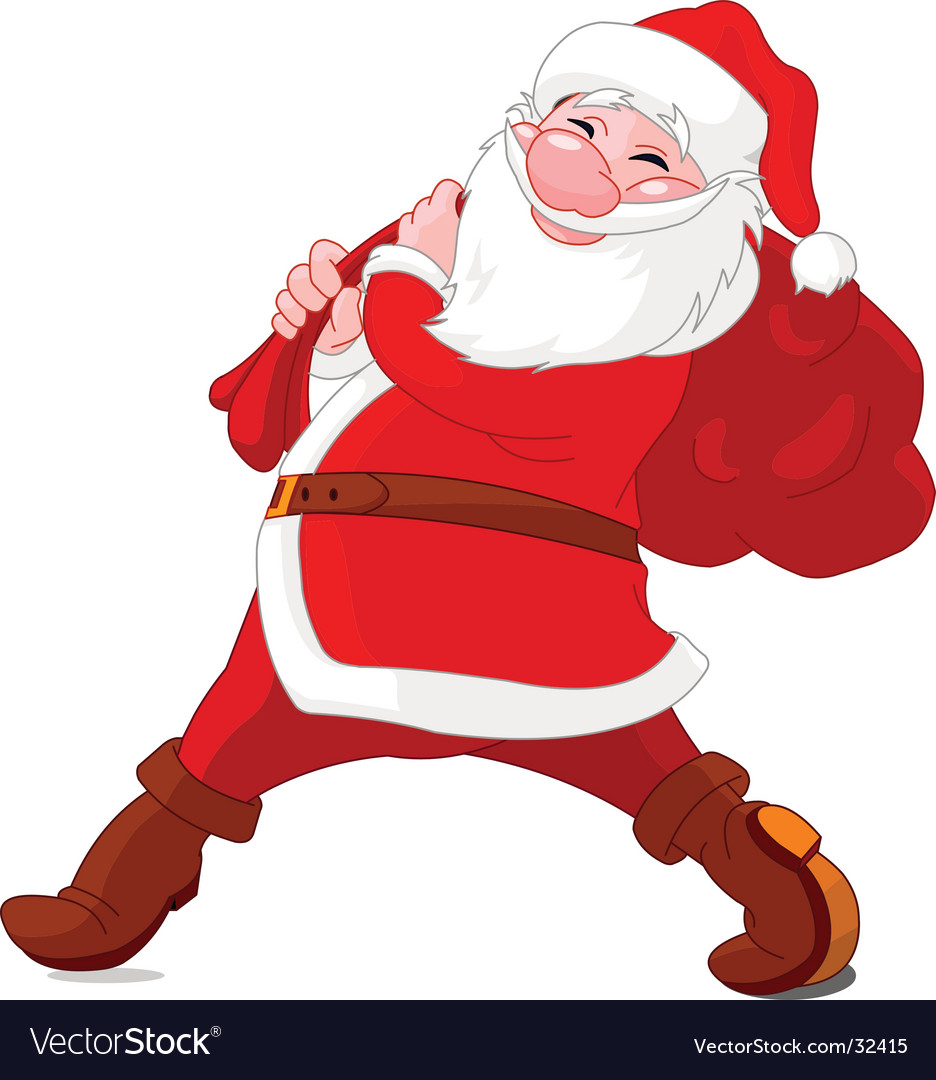 Walking santa vector | Price: 3 Credit (USD $3)