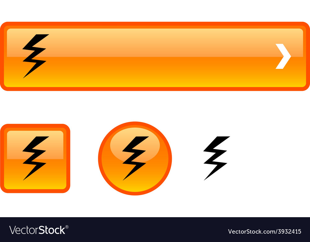 Warning button set vector   Price: 1 Credit (USD $1)
