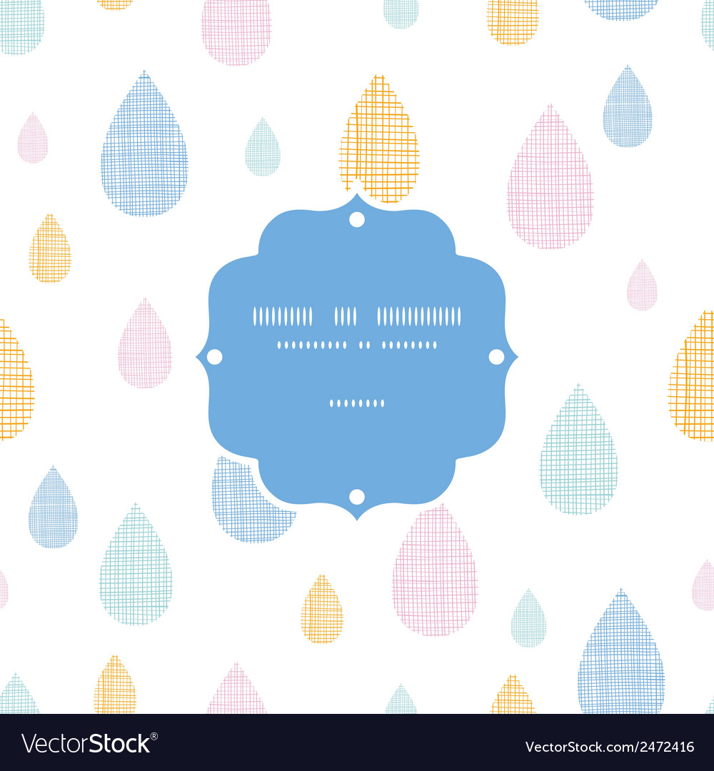 Abstract textile colorful rain drops frame vector | Price: 1 Credit (USD $1)