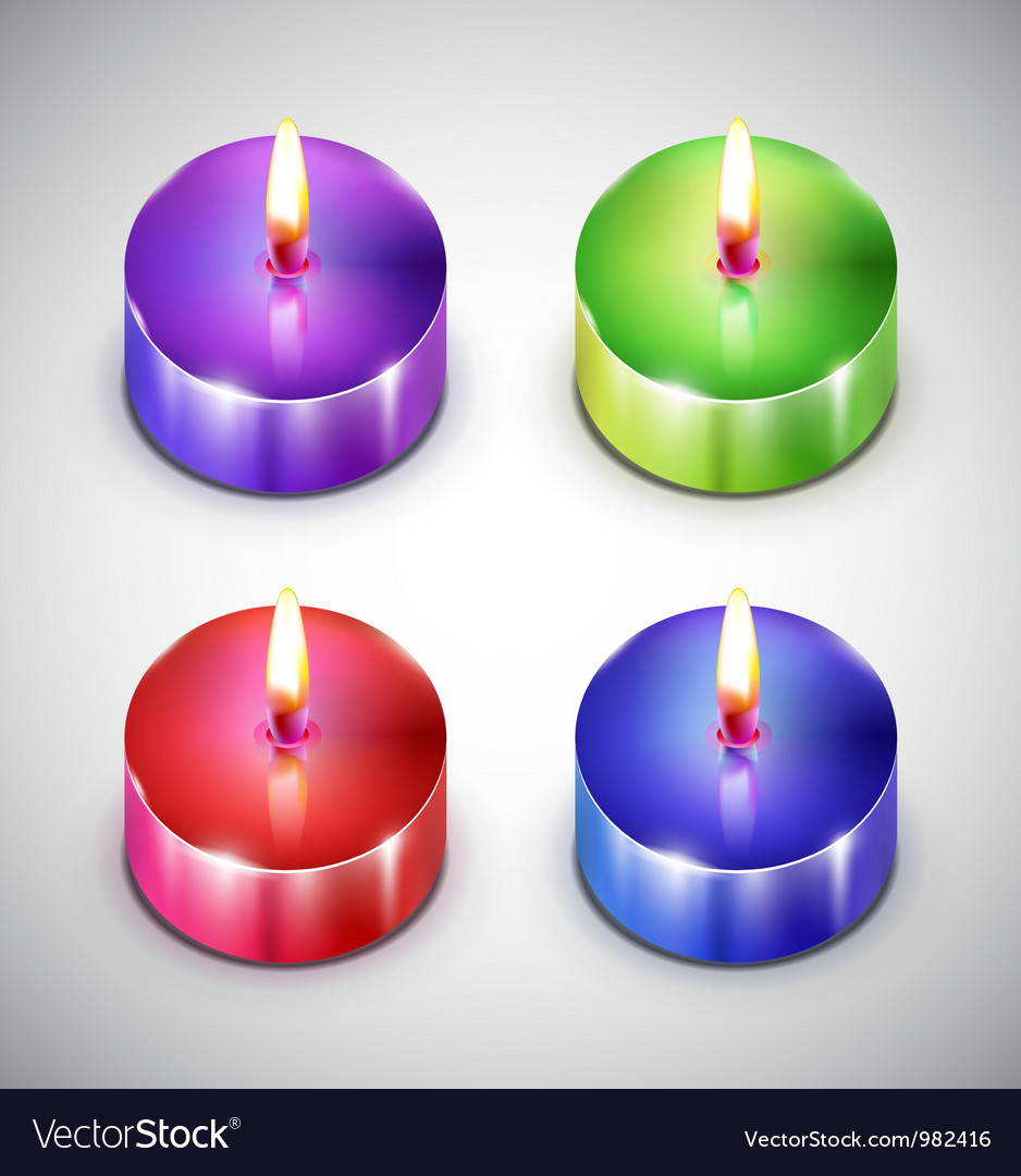 Aroma candle icons vector | Price: 1 Credit (USD $1)