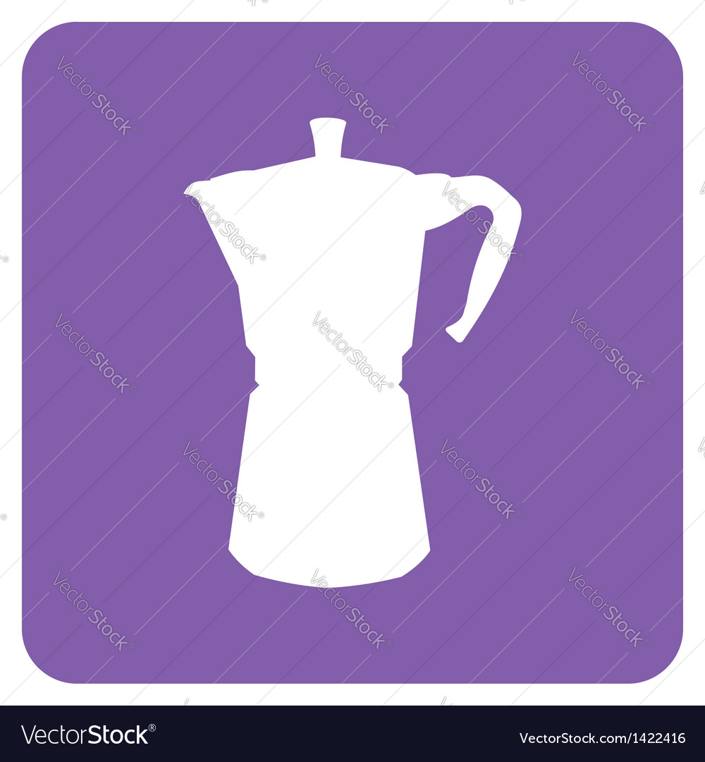 Coffee pot icon vector | Price: 1 Credit (USD $1)