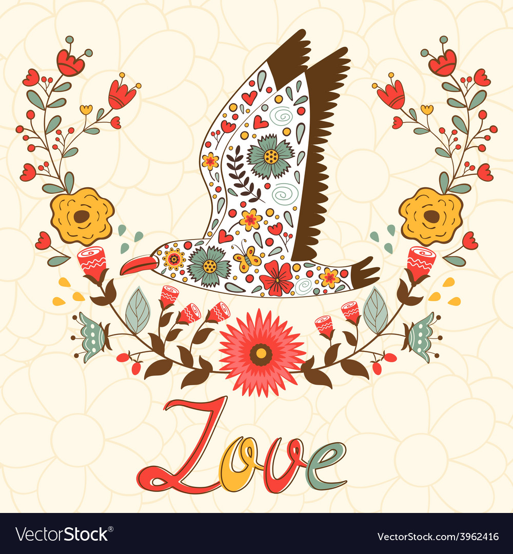 Concept love card vector | Price: 1 Credit (USD $1)