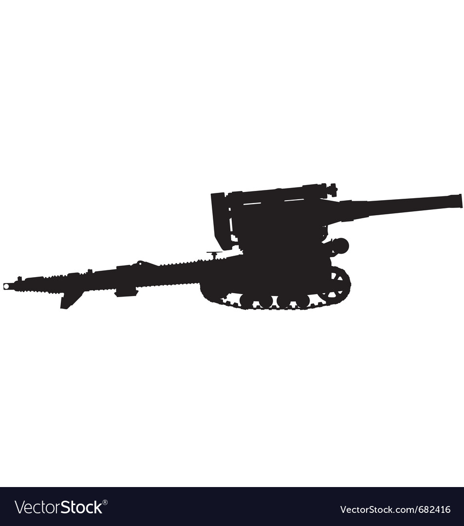 Field gun silhouette vector | Price: 1 Credit (USD $1)
