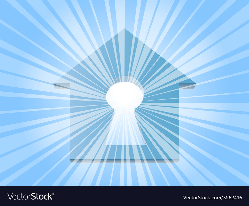 Home keyhole ray vector | Price: 1 Credit (USD $1)