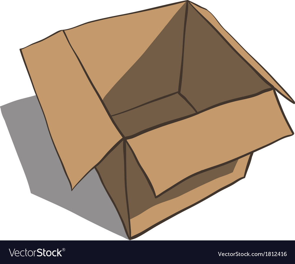 Open box isolated on white background cartoon vector | Price: 1 Credit (USD $1)