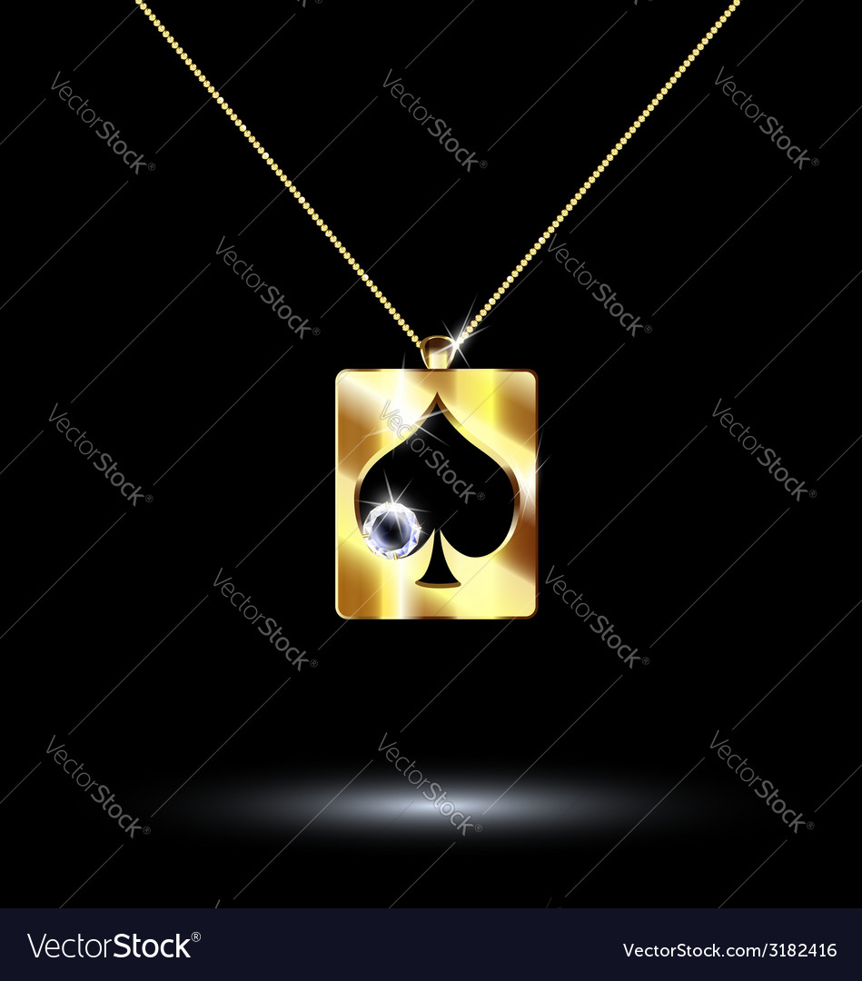Pendant card suit spades vector | Price: 1 Credit (USD $1)