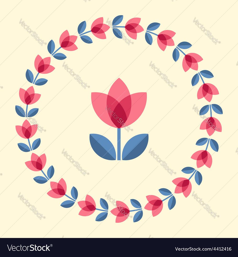 Scandinavian flowers vector