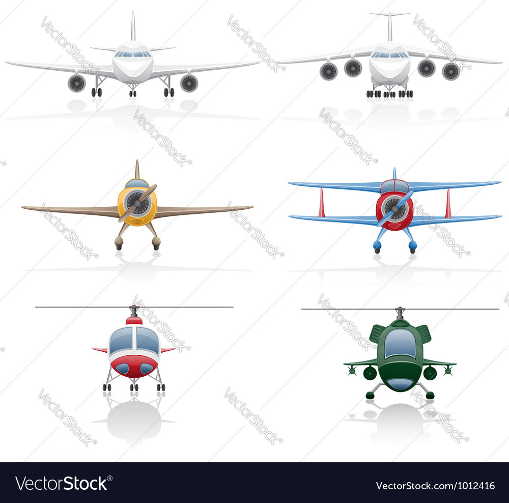 Set icons airplane 01 vector | Price: 1 Credit (USD $1)