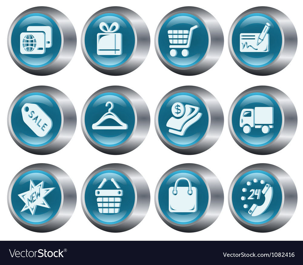 Shopping buttons vector   Price: 1 Credit (USD $1)