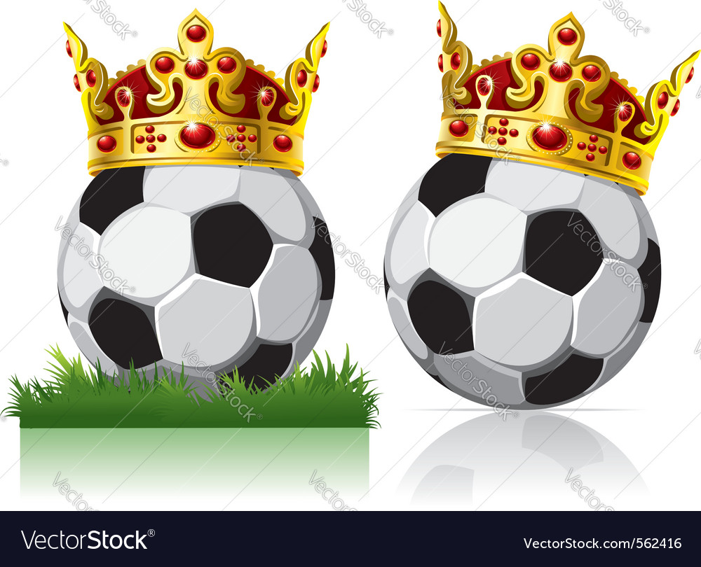 Soccer ball with a golden crown vector | Price: 3 Credit (USD $3)