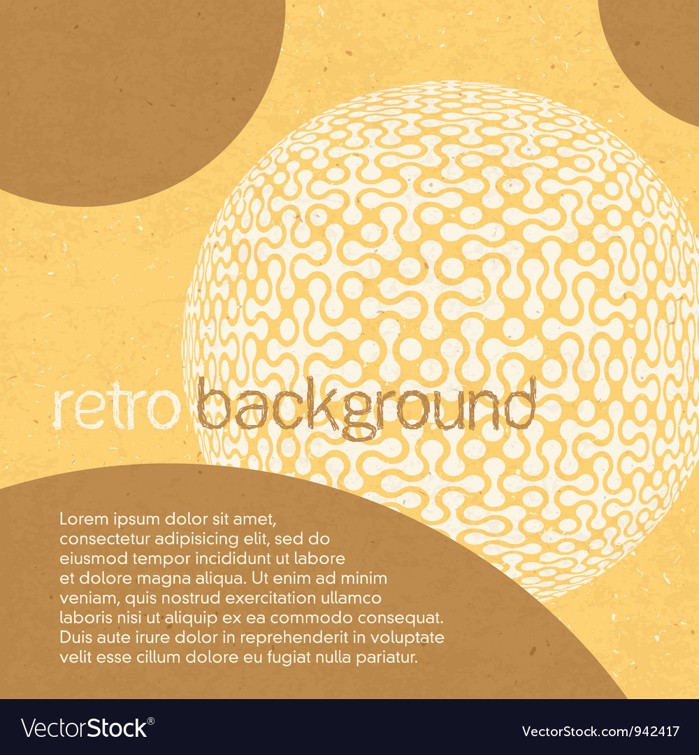 Abstract retro background with circles vector | Price: 1 Credit (USD $1)