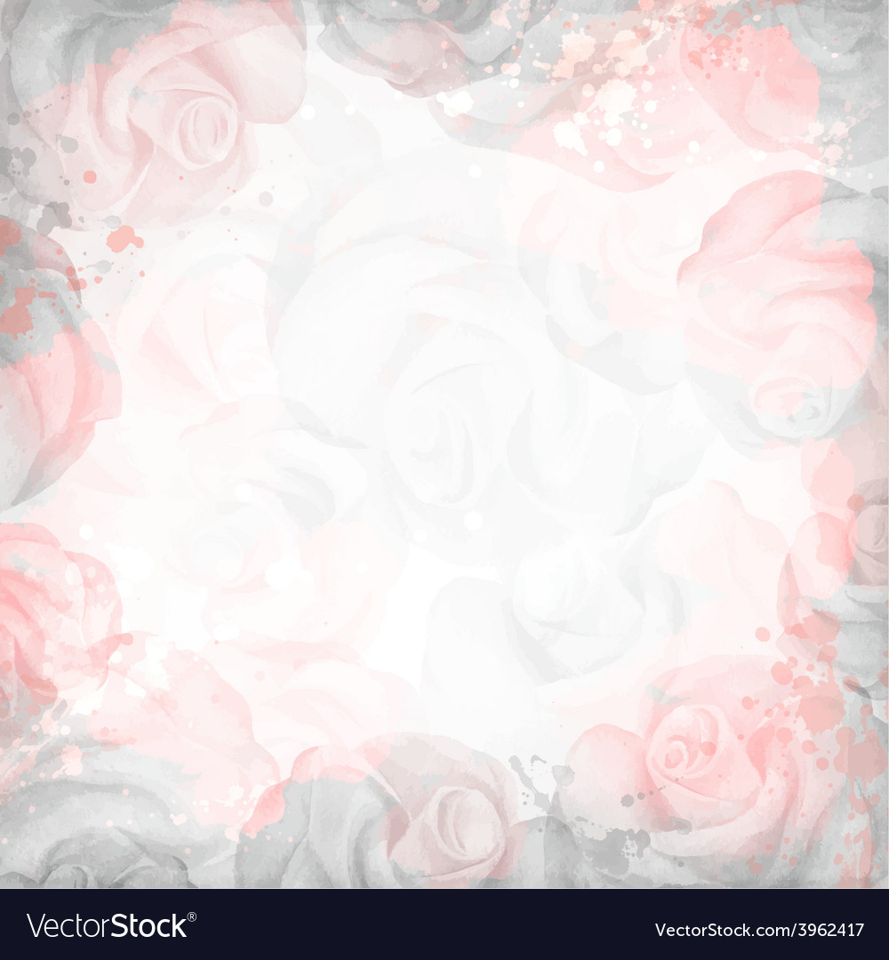 Abstract romantic rose background in pink and gray vector | Price: 1 Credit (USD $1)