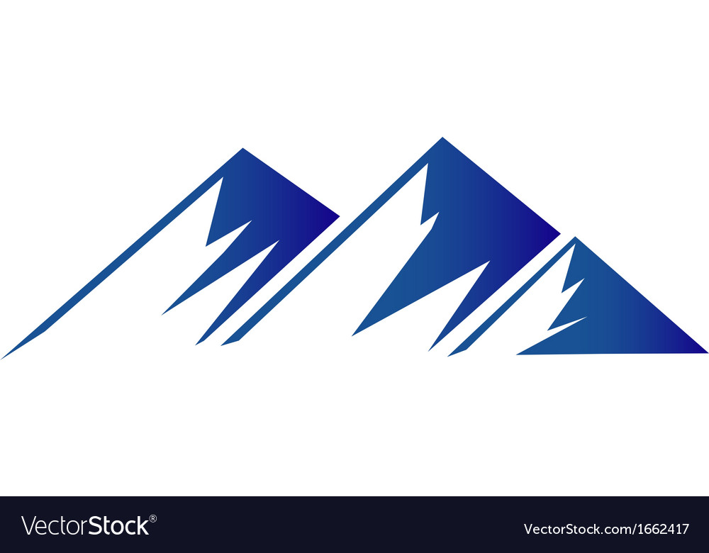 Blue mountains logo vector | Price: 1 Credit (USD $1)