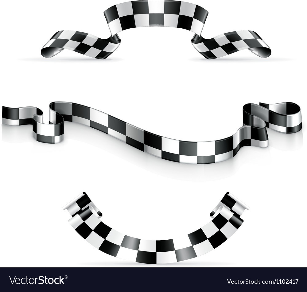 Checkered ribbons vector | Price: 1 Credit (USD $1)