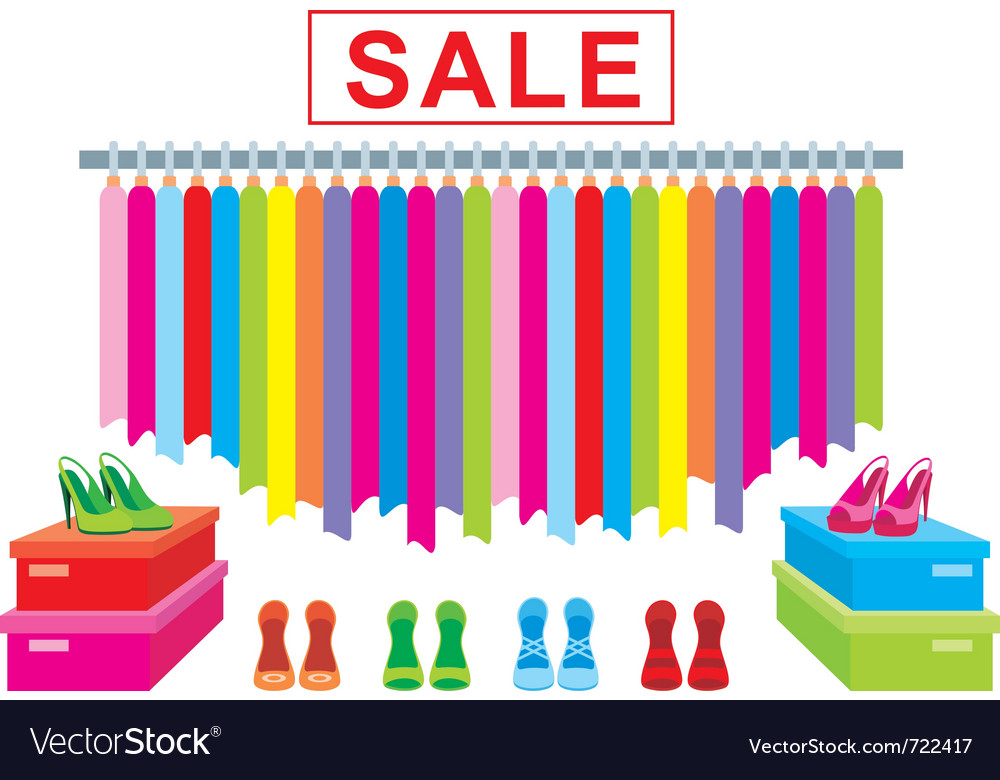 Clothes and footwear sale vector | Price: 1 Credit (USD $1)