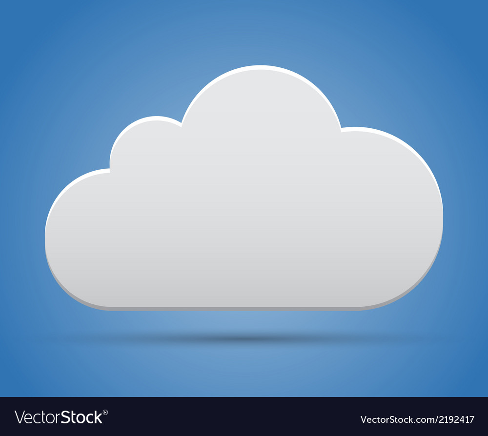Cloud on sky vector | Price: 1 Credit (USD $1)