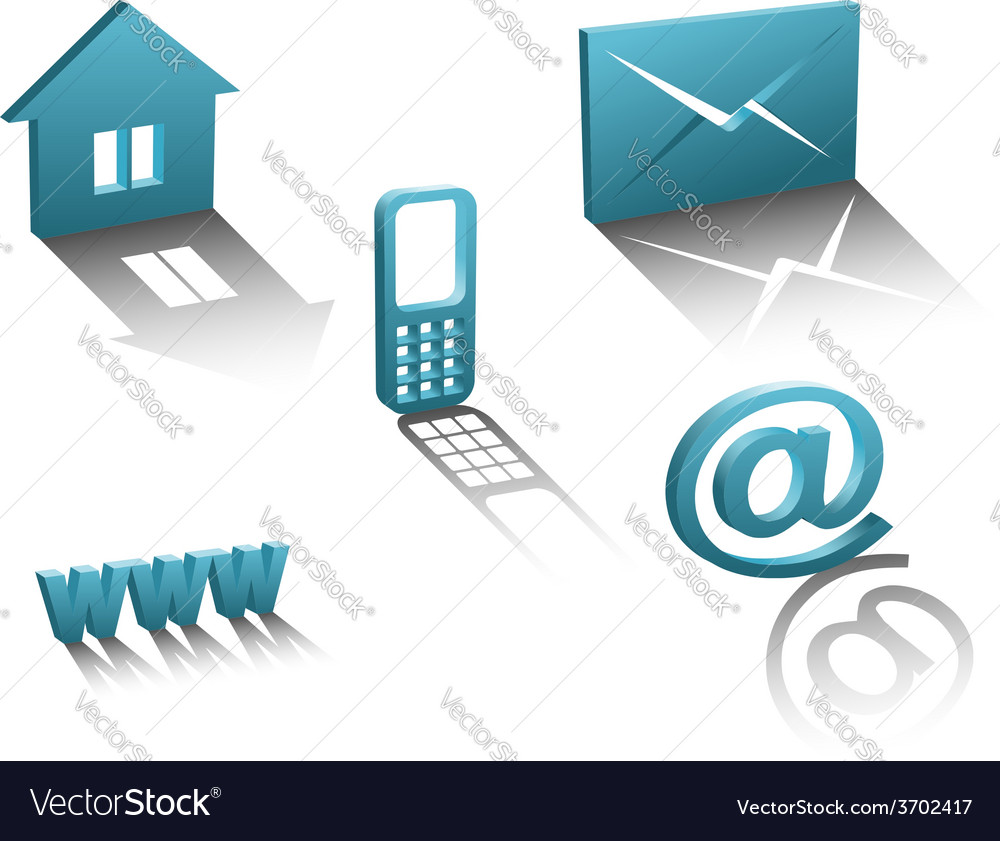 Contact info icons vector | Price: 1 Credit (USD $1)